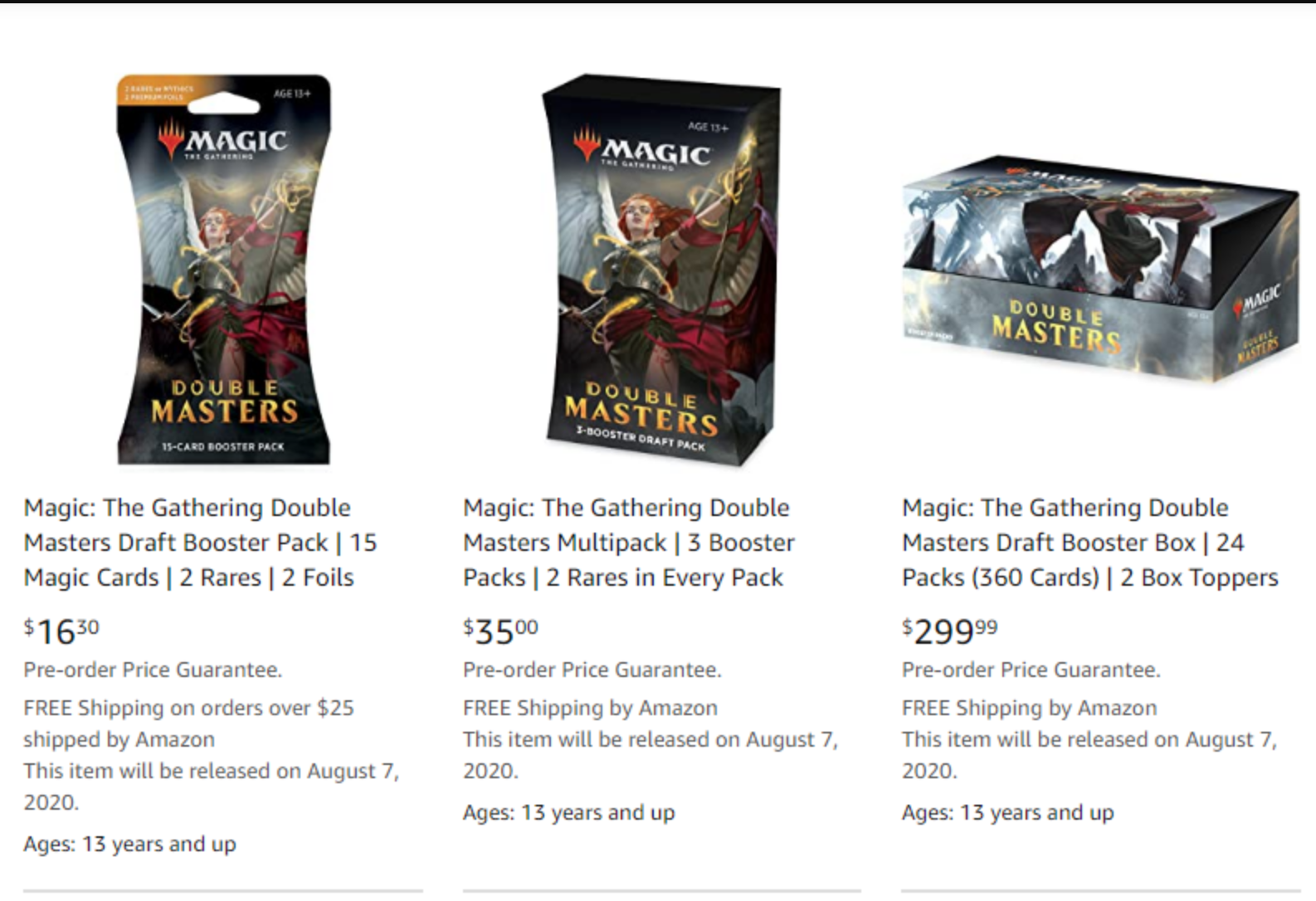 The Gathering Double Masters Draft Booster 24 Packs Magic /& 2 Box Toppers