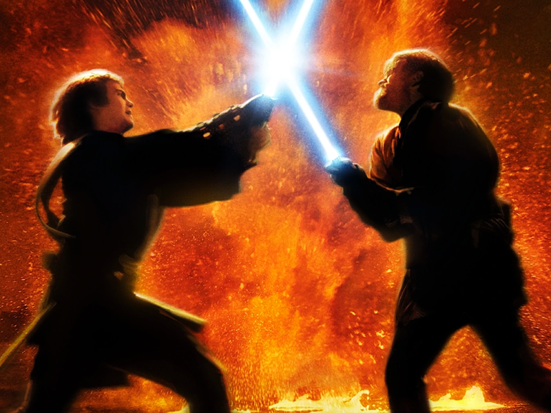 Anakin vs Obi Wan Lightsaber Battle in Revenge of the Sith