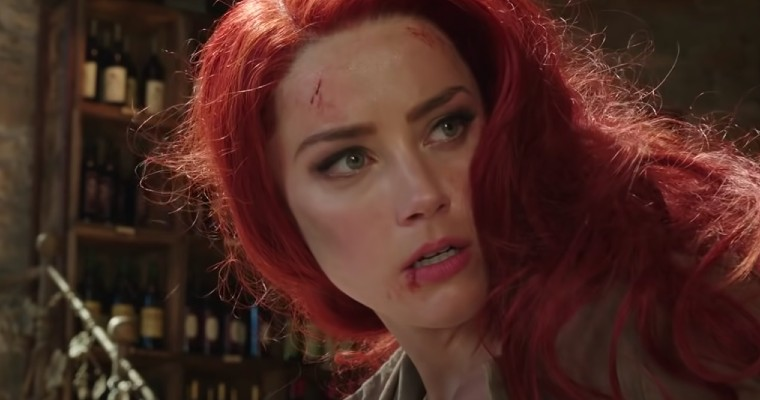 Amber Heard as Mera in Aquaman.