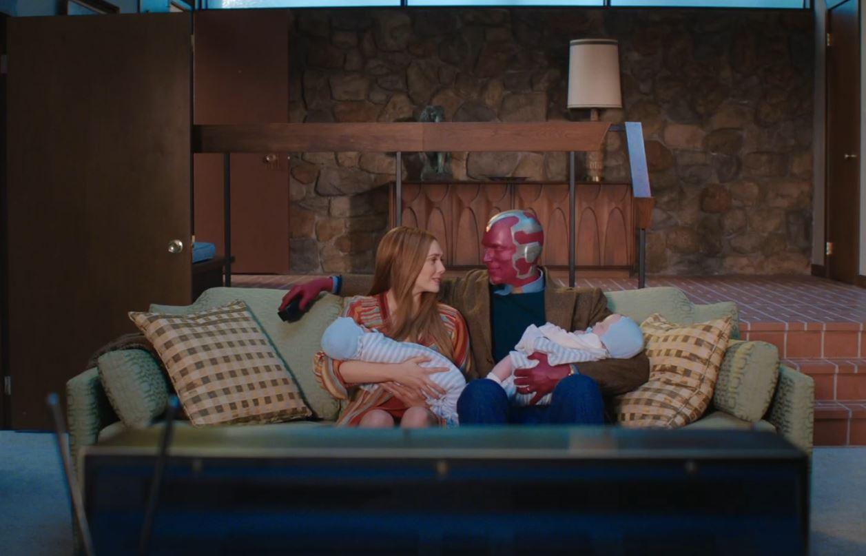 Wanda and Vision with their baby