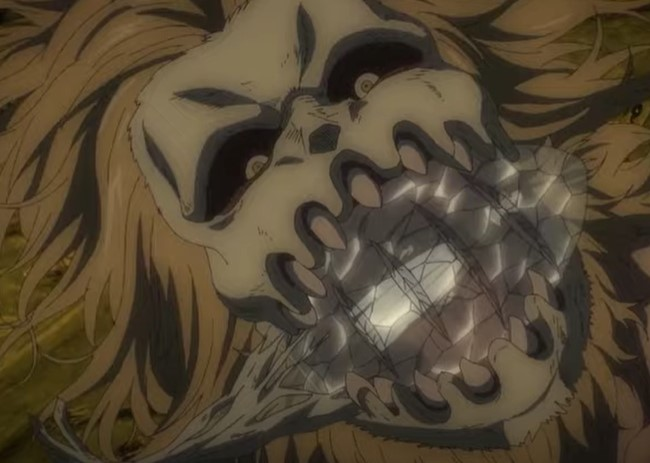 Porco is forced to crush the crystal Attack on Titan Season 4