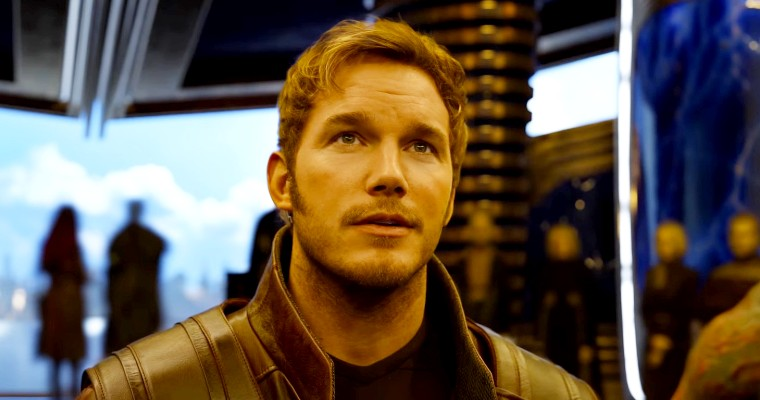 Chris Pratt as Star-Lord in Guardians of the Galaxy.