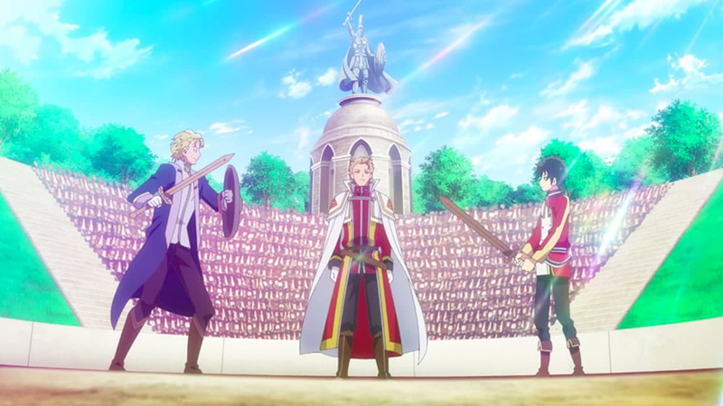 Charles Arbor, Alfred Emerle, and Rio in Episode 2 of Seirei Gensouki: Spirit Chronicles. Photo from TMS Entertainment.