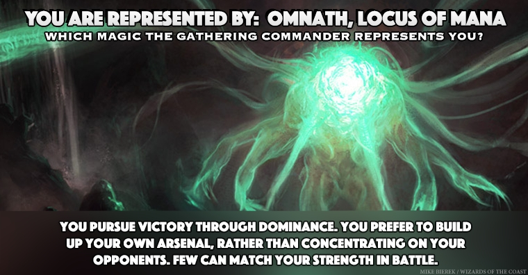 I Am Represented By Omnath Locus Of Mana Which Magic The Gathering