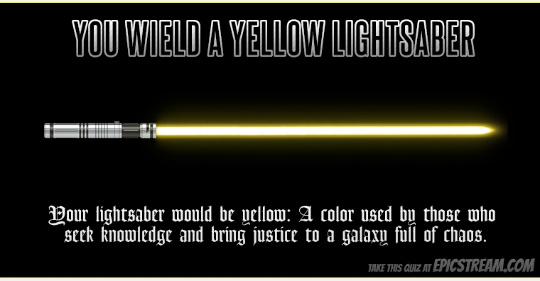 my lightsaber is yellow which color of lightsaber would