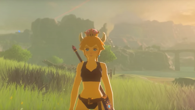 Bowsette Is Now A Playable Character In Breath Of The Wild